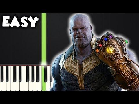 Avengers: Infinity War   EASY PIANO TUTORIAL + SHEET MUSIC by Betacustic