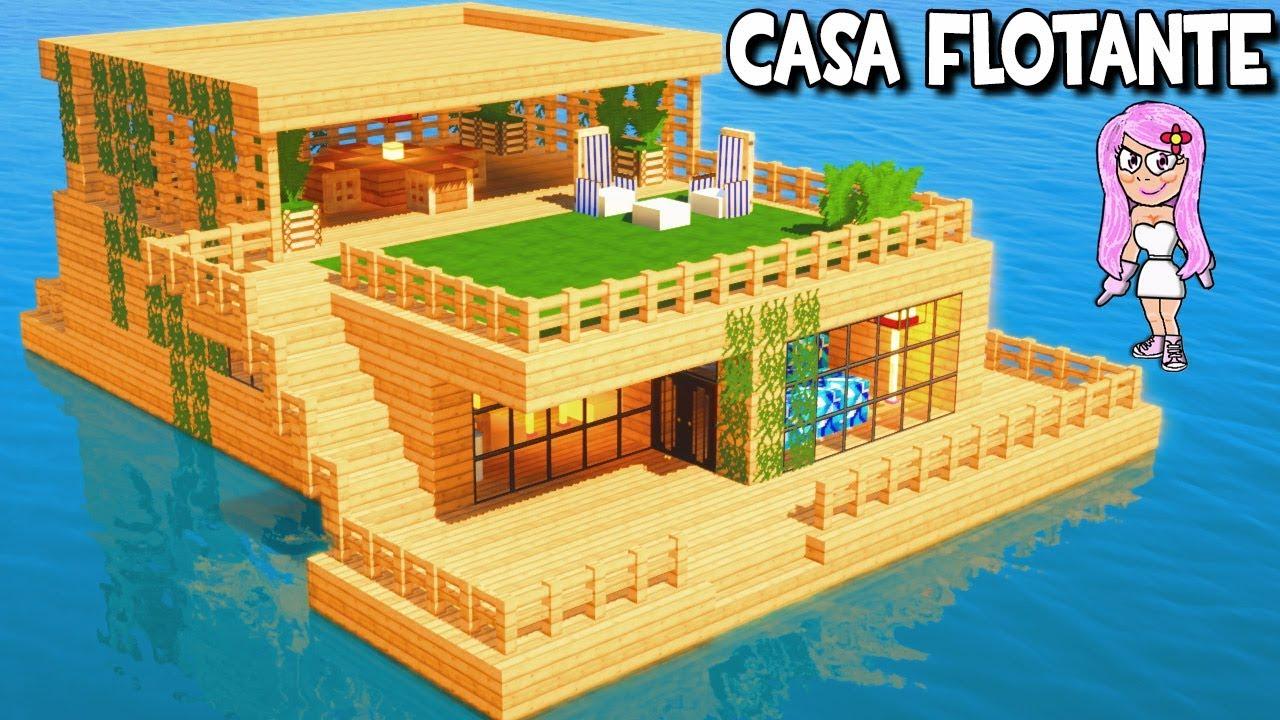 Casa flotante en minecraft c mo hacer construir y for Casa moderna 8 en minecraft mirote y blancana