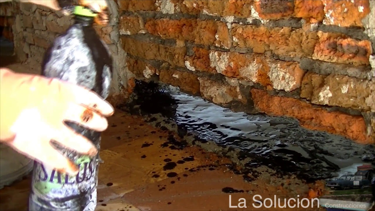 Como quitar de raiz la humedad de las paredes youtube - Como quitar la humedad de la pared ...