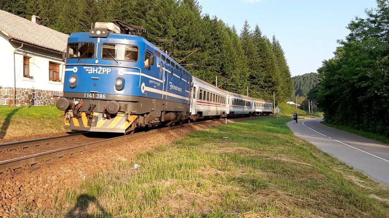 Fast Train For Rijeka In Moravice Brzi Vlak 702 Osijek Rijeka U Moravicama Youtube