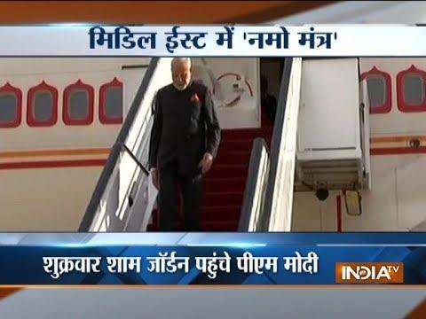 Jordan: Members of the Indian community welcome PM Modi at Amman's Four Seasons Hotel