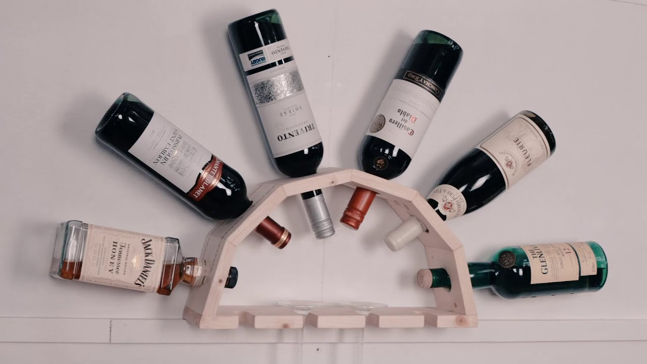 How to make a wooden wine rack youtube for How to build a wine rack