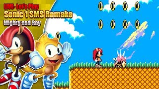 RAY AND MIGHTY IN 8 BIT!? Let's Try Sonic 1 8 bit remake PC Version