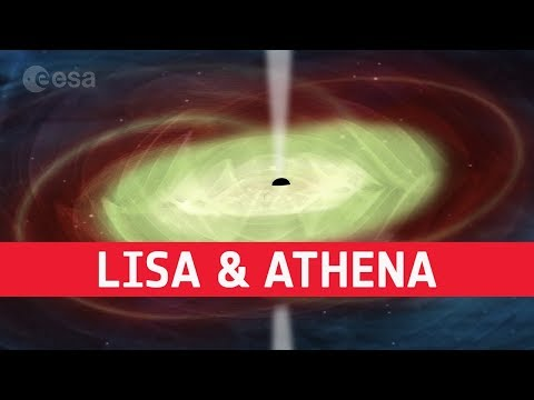 Exploring black holes with LISA and Athena