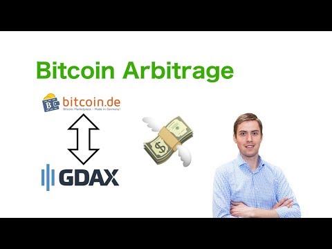 Bitcoin Arbitrage (zwischen Bitcoin.de und Gdax)