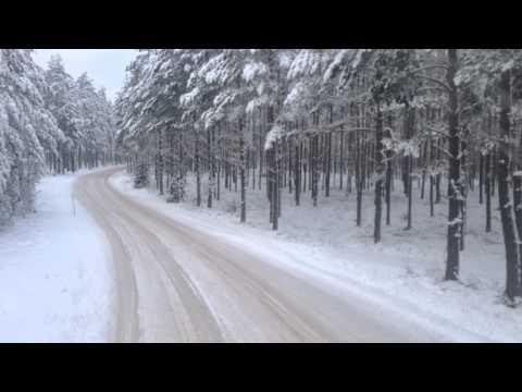 sofer de tir cu volvo iarna in suedia