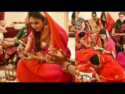 Divyanka Tripathi Dahiya Karvachauth Pooja | Divyanka Karvachauth Celebration | FCN