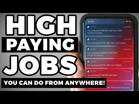 High Paying Work at Home Jobs of 2020 (PAID DAILY!)