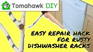 repair a rusty dishwasher rack the easy way