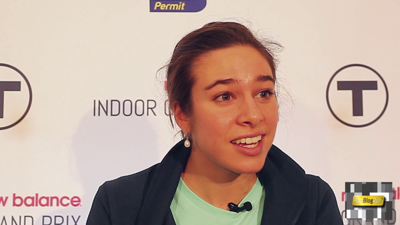 Abbey D'Agostino Interview at 2017 New Balance Indoor Grand Prix