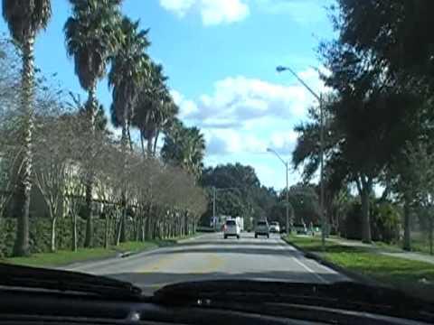 paseo por las calles de Lakeland Florida