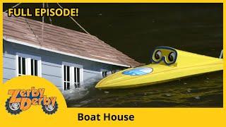 Zerby Derby - BOAT HOUSE | Zerby Derby Season 1 | Kids Cars | Kids TV Shows