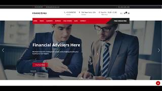 How to start Consulting website - Finance Business & Consulting WordPress Theme