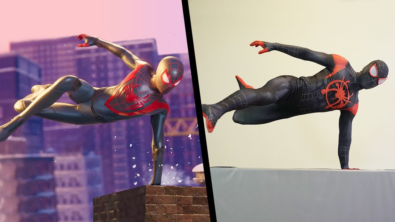 Stunts From Spider-Man: Miles Morales In Real Life (PS5)