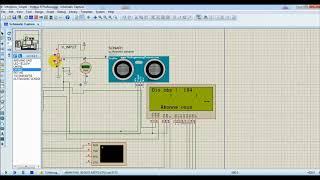 رادار بسيط بالأردوبنو و الشاشة و حساس الصوت LCD ultrasonic arduino Radar