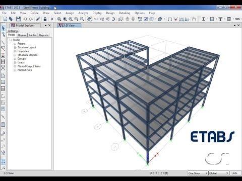 ETABS - 02 Introductory Tutorial Steel: Watch & Learn