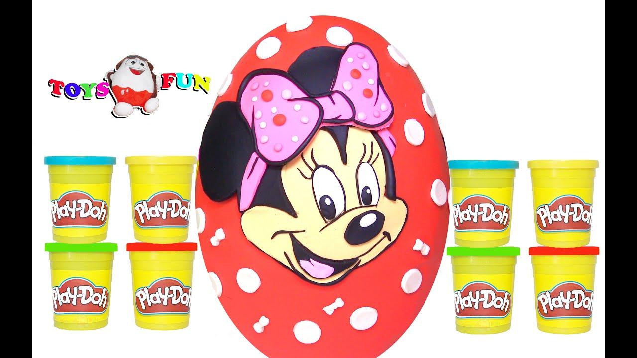 Minnie Mouse Play Doh Dev Sürpriz Yumurta Miki Fare Araba Kung Fu