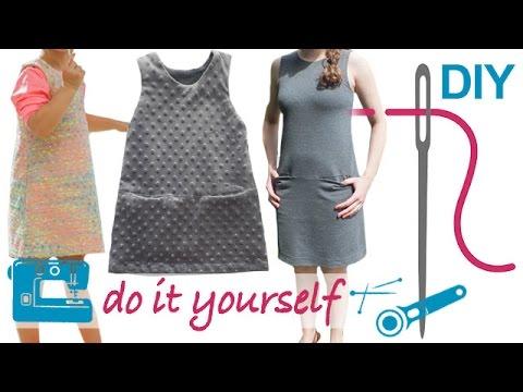 DIY Kleid nähen für Anfänger – Kleid ohne Arm und ohne RV ...