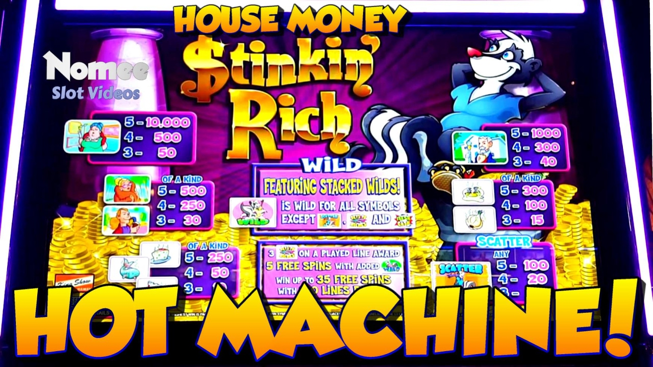 ★HOUSE MONEY!!★ Stinkin' Rich Slot Machine ★Long Play with ...