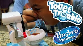 TOILET TROUBLE CHALLENGE! Blind Bags Family Fun Board Games