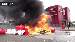 Fire & chaos: Yellow Vests clash with police near Nantes