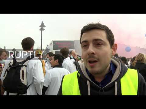 France: Thousands of dentists protest amid dental care tariff law in Paris