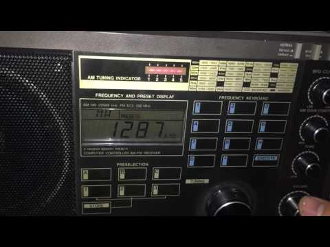 TWR Asia Kyrgyzstan 1287 kHz received in Romania