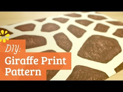 How to Make a Giraffe Print Pattern