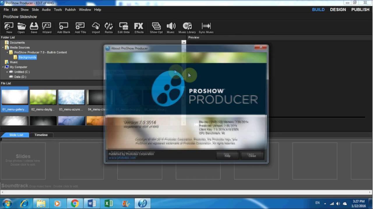 Download and Install Proshow Producer v.7 Full crack - YouTube