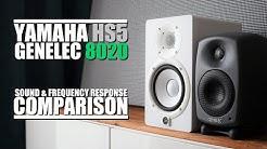 Genelec 8020D  vs  Yamaha HS5  ||  Soun & Frequency Response Comparison