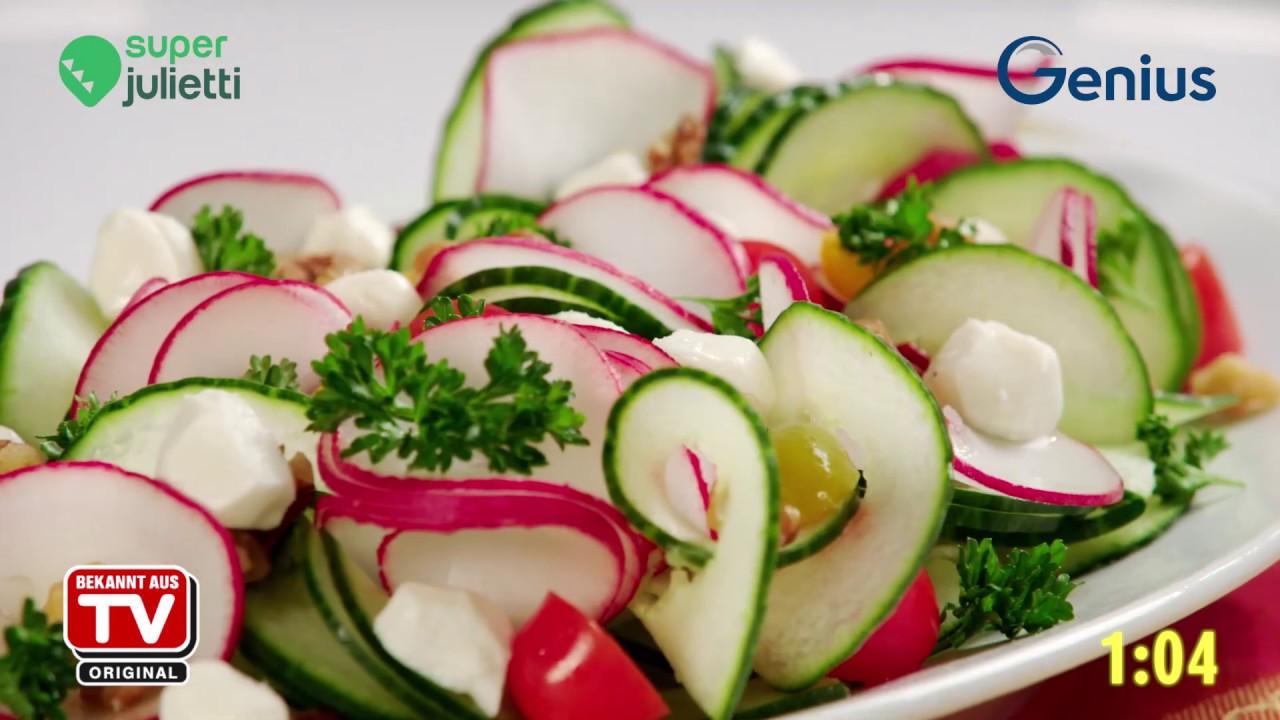 Julienne Gemüseschneider Genius Super Julietti Spiralschneider Gemüsespaghetti