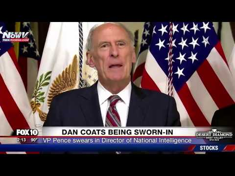 WATCH: Dan Coats Sworn In As Director of National Intelligence