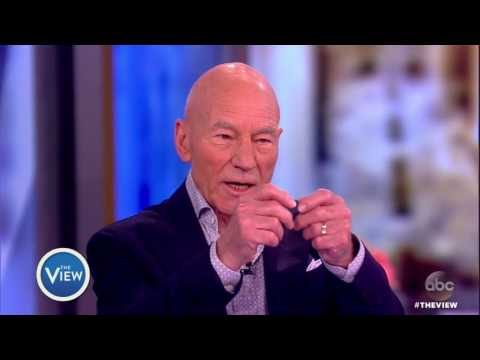 Sir Patrick Stewart On Becoming U.S. Citizen, Star Trek Bloopers With Former CoStar Whoopi Goldberg