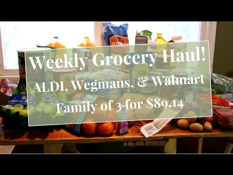 Meal Plan/Grocery Haul 3/18/17