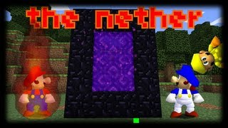 super minecraft 64 bloopers: the nether thumbnail