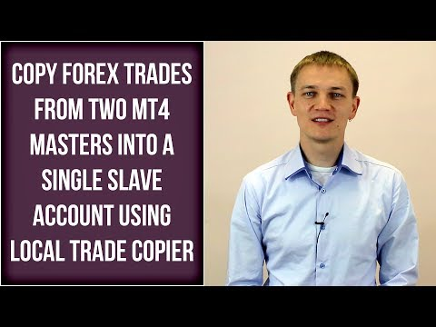 Copy forex trades from two MT4 masters into a single slave account using LTC