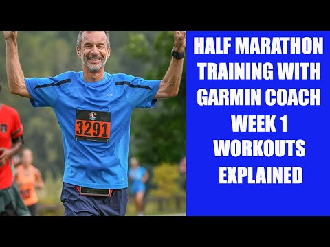 Half Marathon 13 Week Training With Garmin Coach | In-Depth Look At Week 1