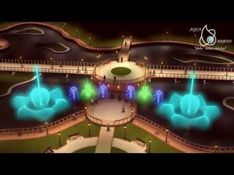 Music Fountain animation Kazakhstan