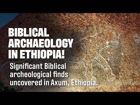 Ancient Lion of Judah Inscription in Axum Ethiopia