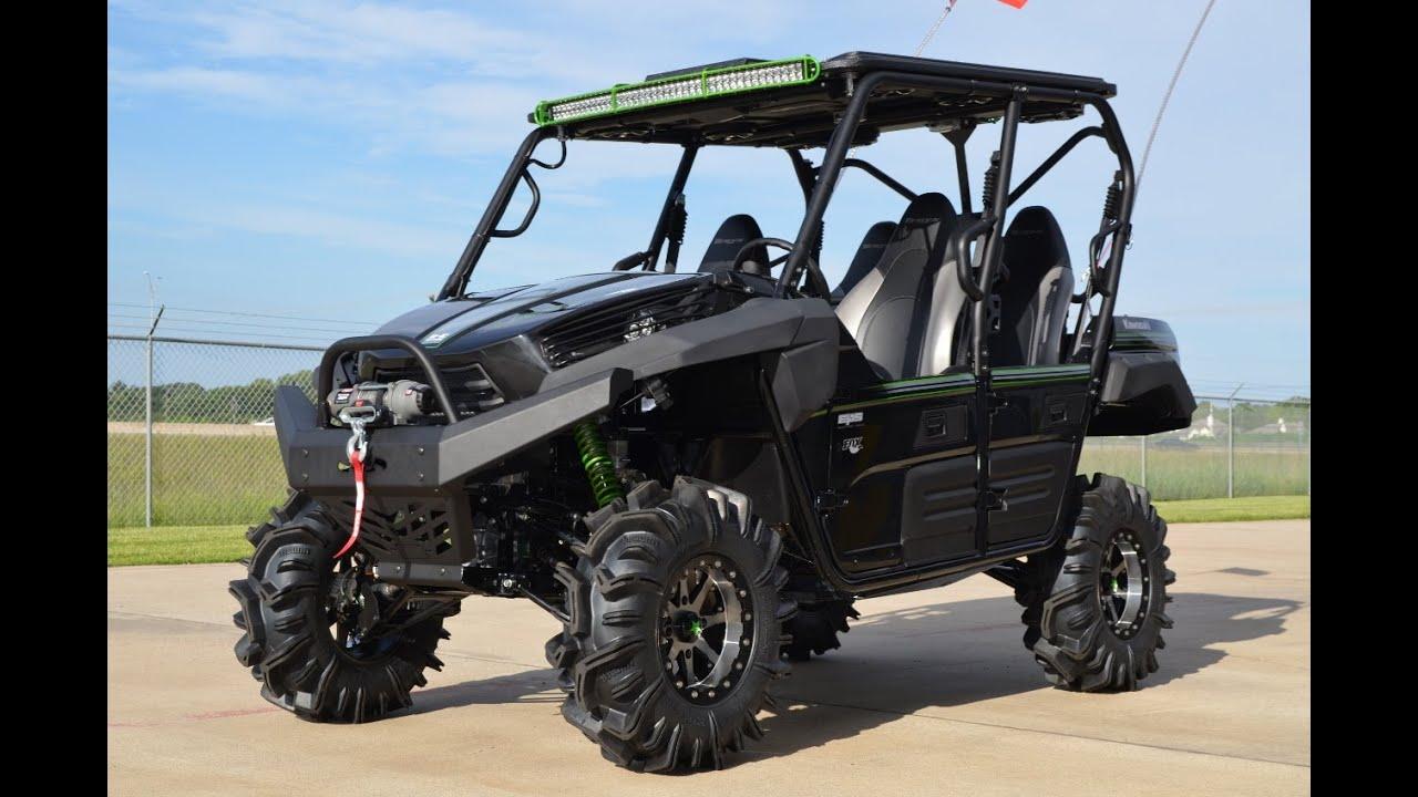 custom 2015 kawasaki teryx4 in super black loaded! - youtube