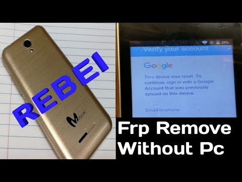 how to bypass google account on mobicel rebel