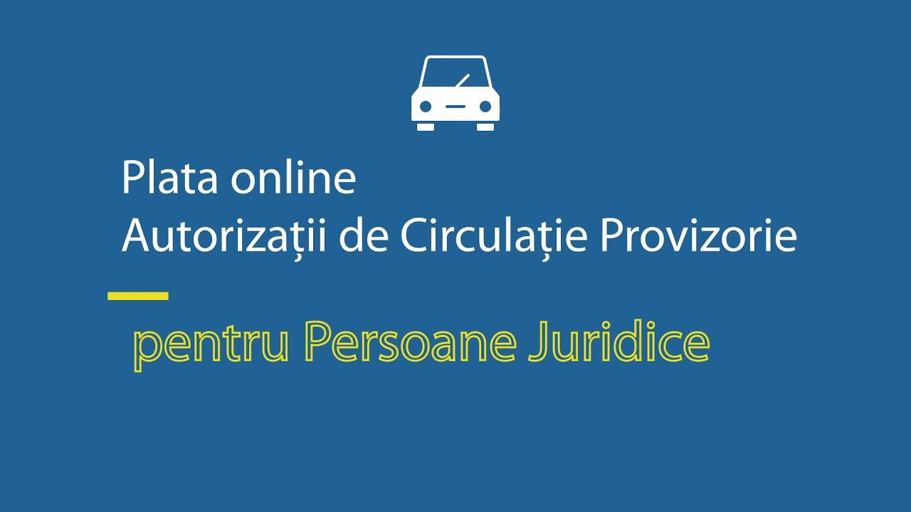 PLATĂ ONLINE - Direcţia Regim Permise de Conducere şi Înmatriculare a Vehiculelor