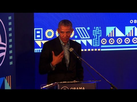 Obama inspires young African leaders on Mandela's birthday