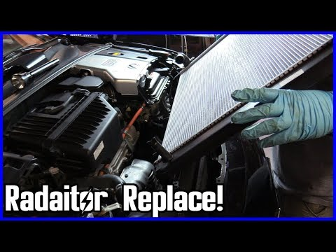 How to Replace the Radiator Lexus RX 400h 2005–2009