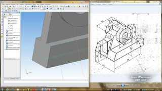 Компас 3D уроки - построение простой детали 4 (UA)