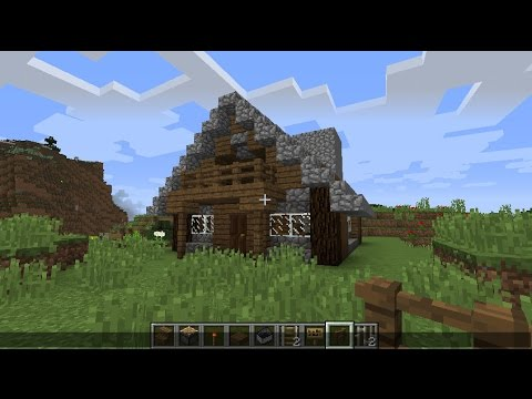 Tuto comment faire un chalet sur minecraft youtube - Comment faire un chalet dans minecraft ...