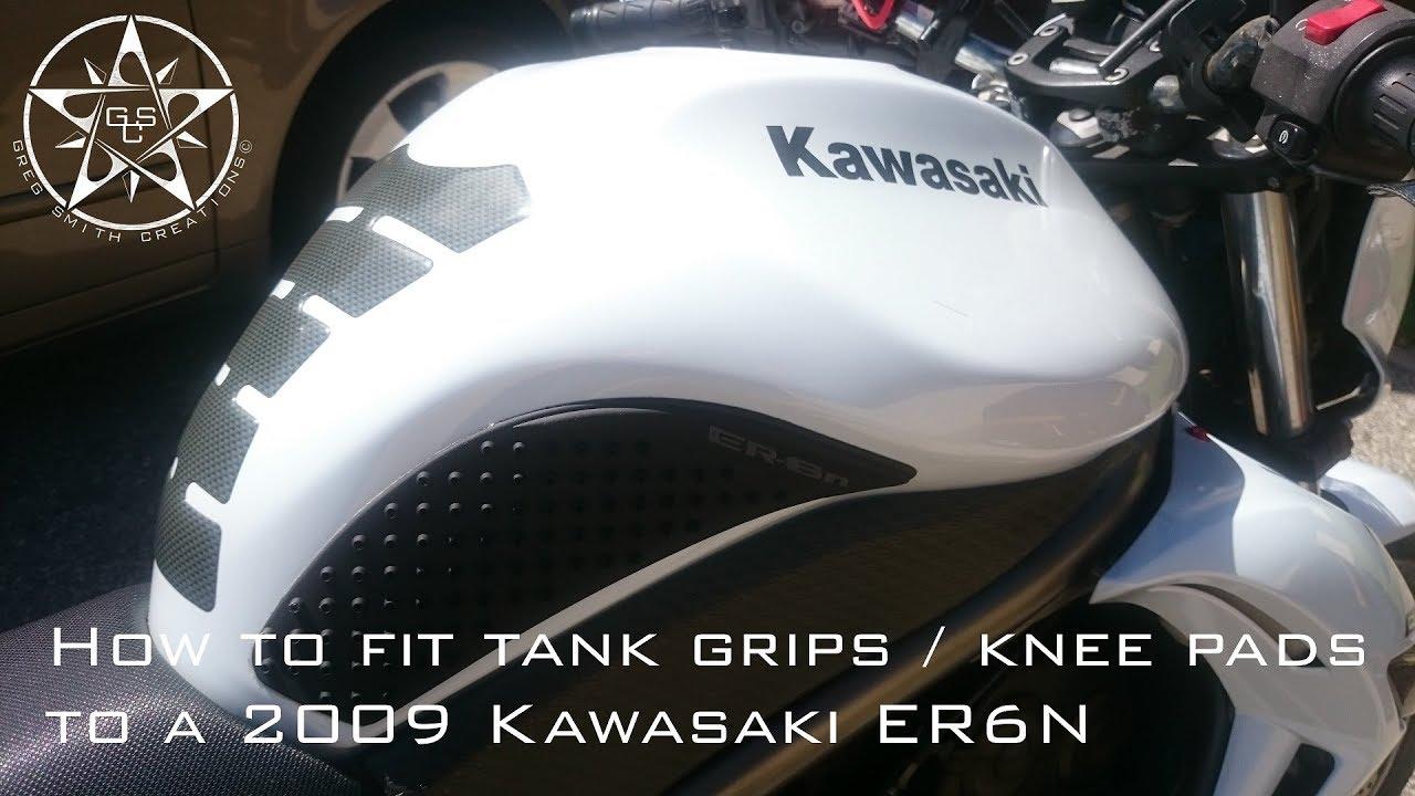 Er6n Tank Grips Knee Pads Youtube