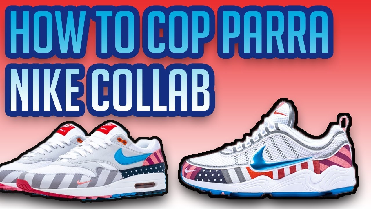 brand new d07e5 92e56 How To Cop Parra Nike Collab Air Zoom Spiridon   Air Max 1   Resale  Predictions