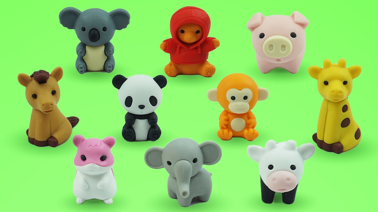 Foam Clay Ice Cream Surprise Toy and Learn Animal Names with Cute