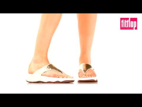 gold electra fitflops